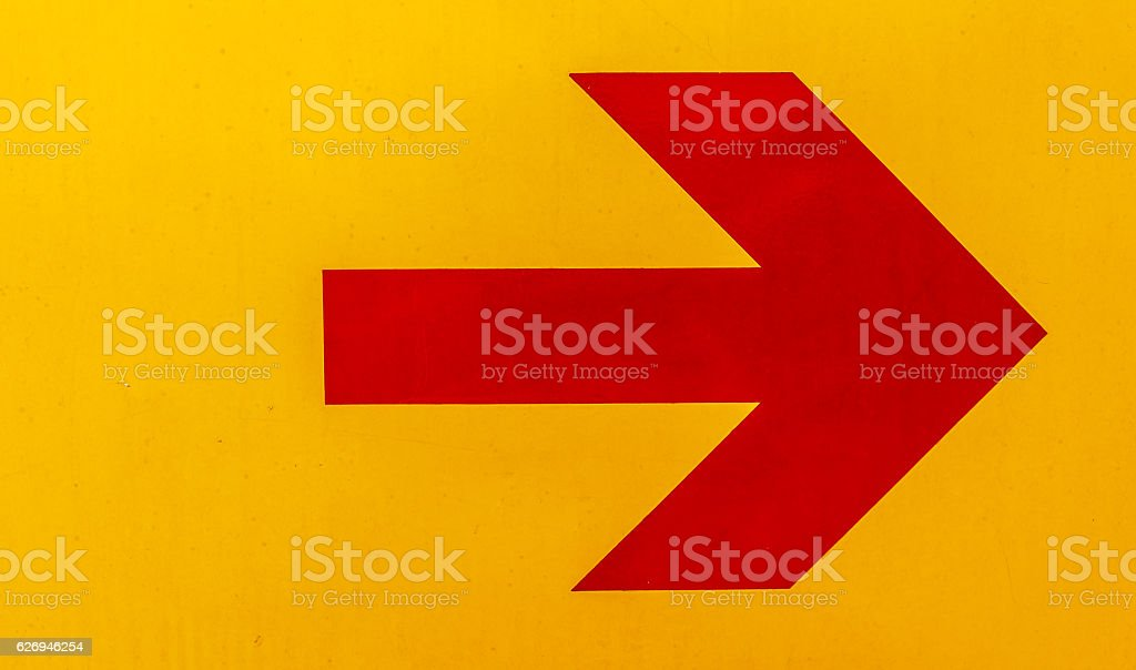 Red arrow image stock photo