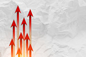 Red arrow leader  Business concept. Red arrow leader  Business c