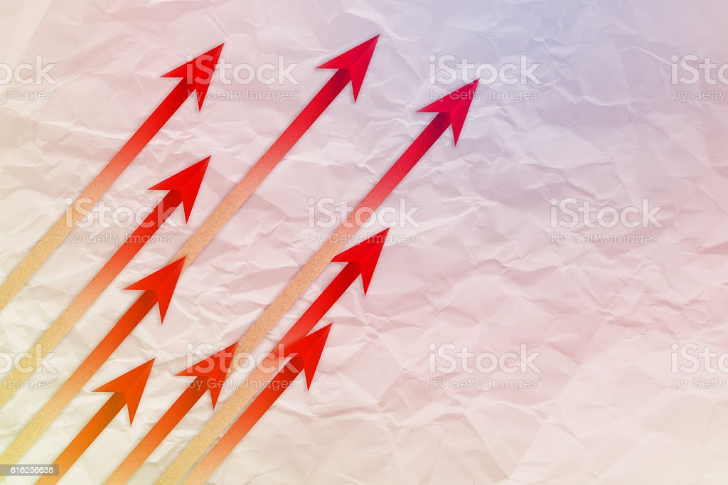 Red arrow leader  Business concept. Red arrow leader  Business c stock photo