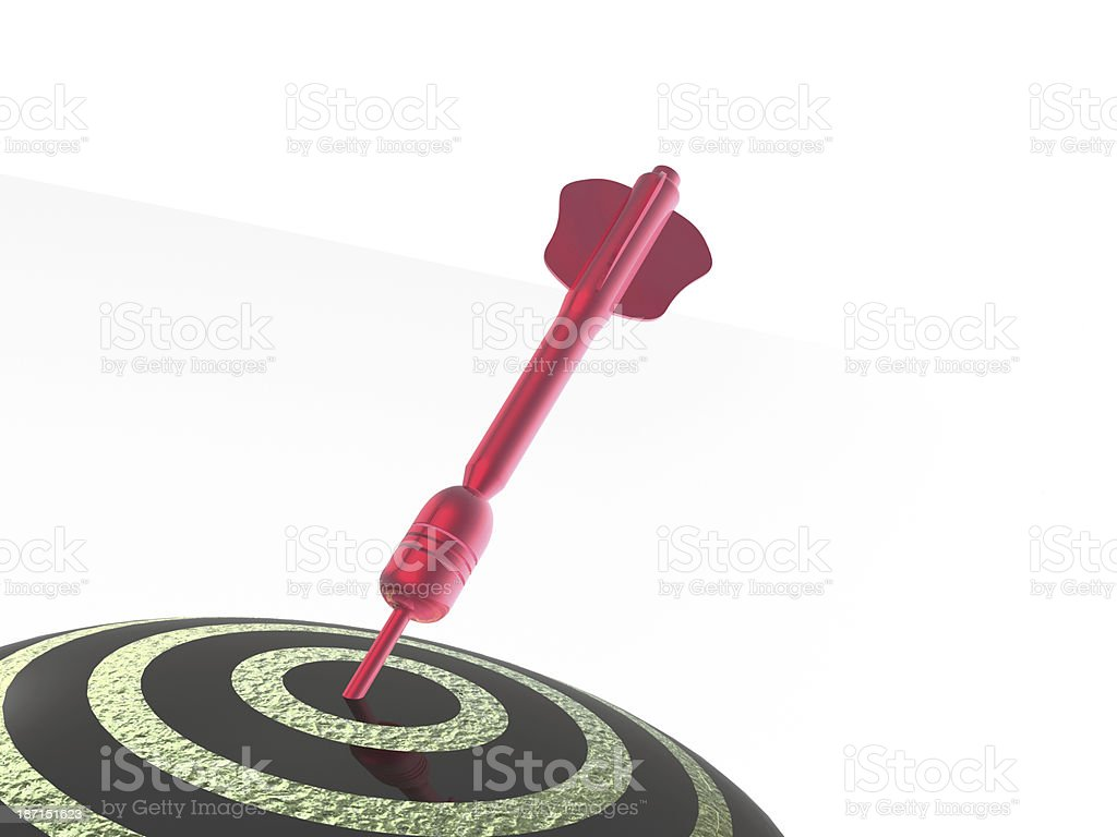 Red arrow on the target royalty-free stock photo