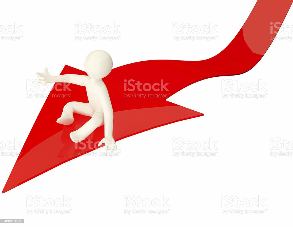 red arrow royalty-free stock photo