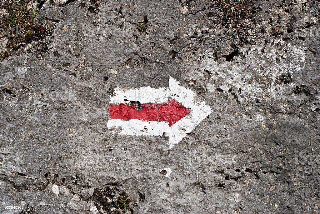 Flecha roja foto de stock libre de derechos