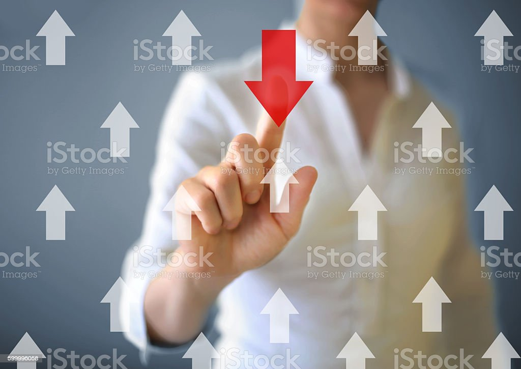 Red arrow sign stock photo