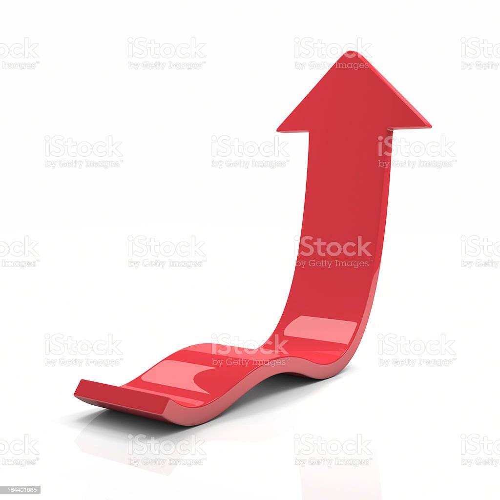 Red Arrow Up stock photo