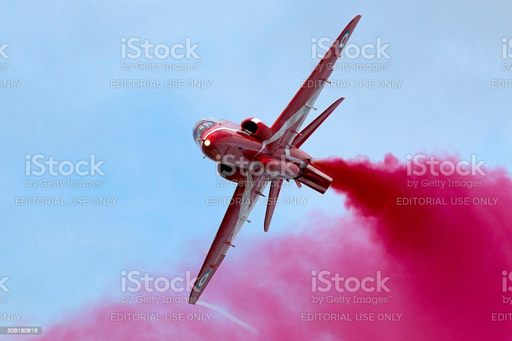 Red Arrows Display stock photo