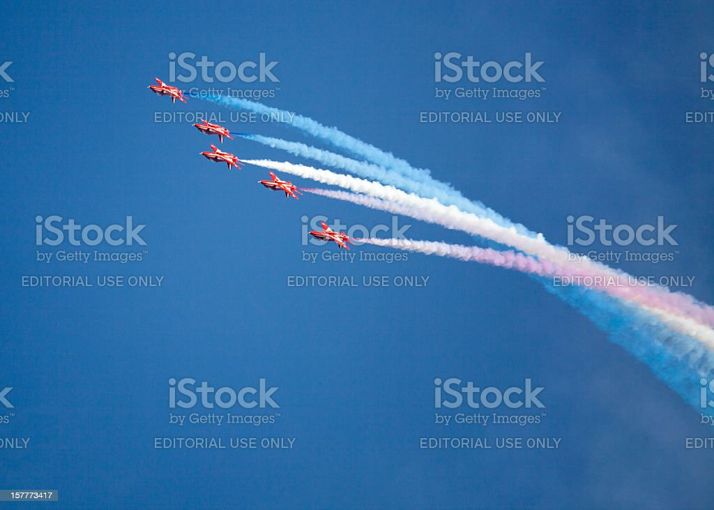 Red Arrows Display Team royalty-free stock photo