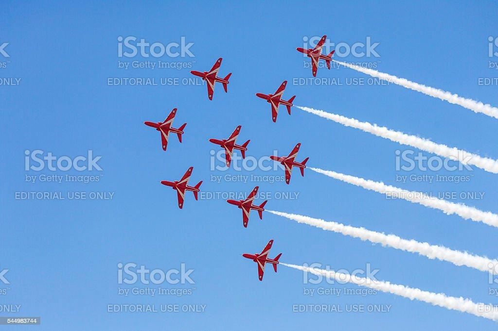 Red Arrows Display Team - Swansea stock photo