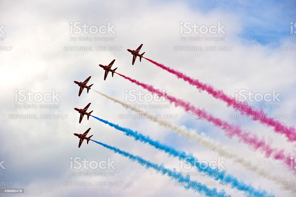 Red Arrows, Farnborough AIr Show royalty-free stock photo