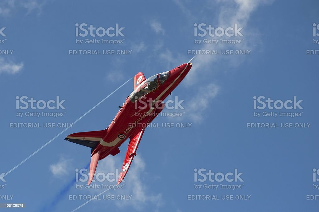 Red Arrows Jet royalty-free stock photo