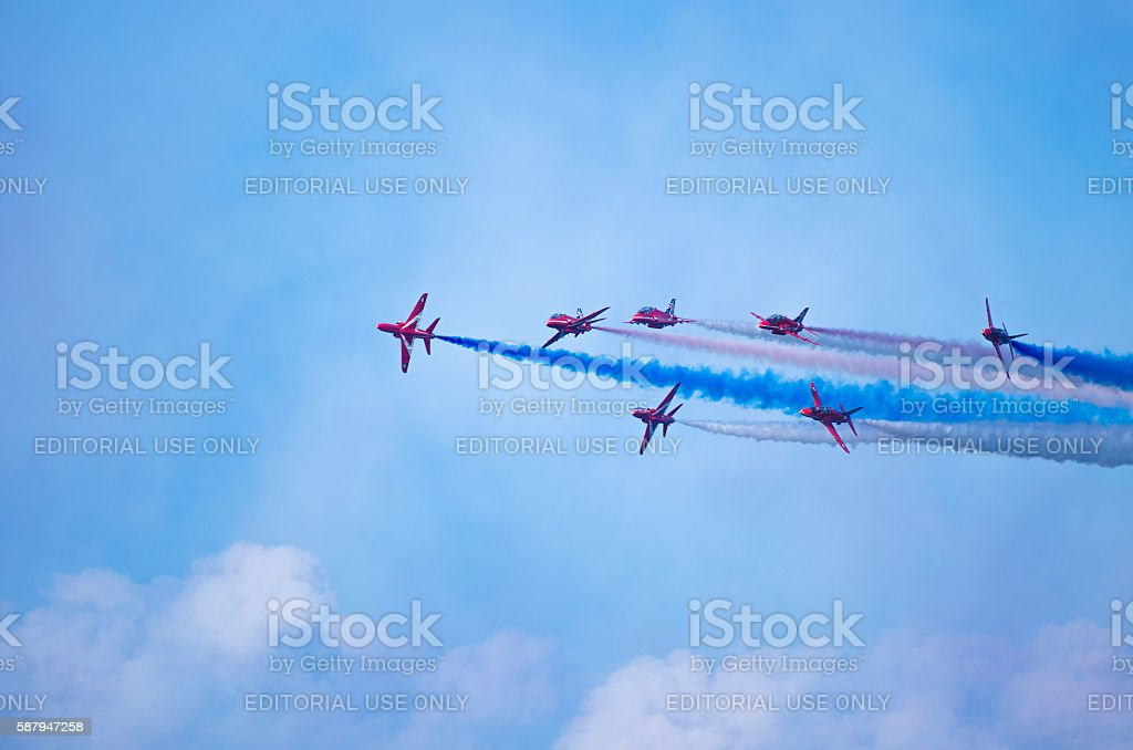 Red Arrows on Display stock photo