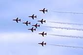 Red Arrows parading for the Queen's Birthday