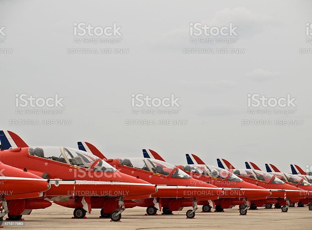 RAF Red Arrows royalty-free stock photo