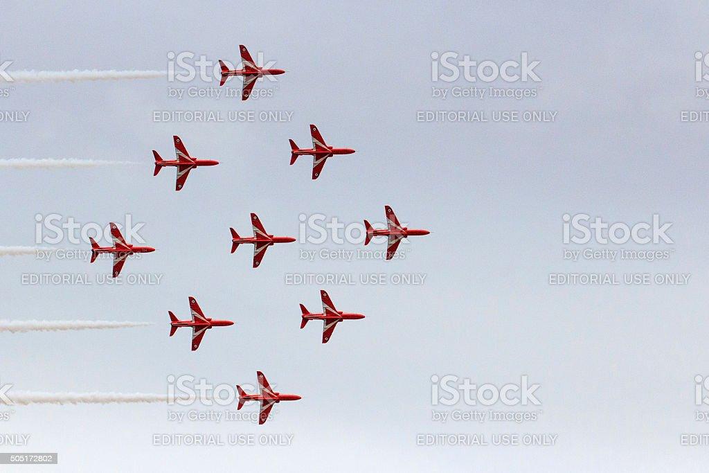 Red Arrows - Swansea stock photo
