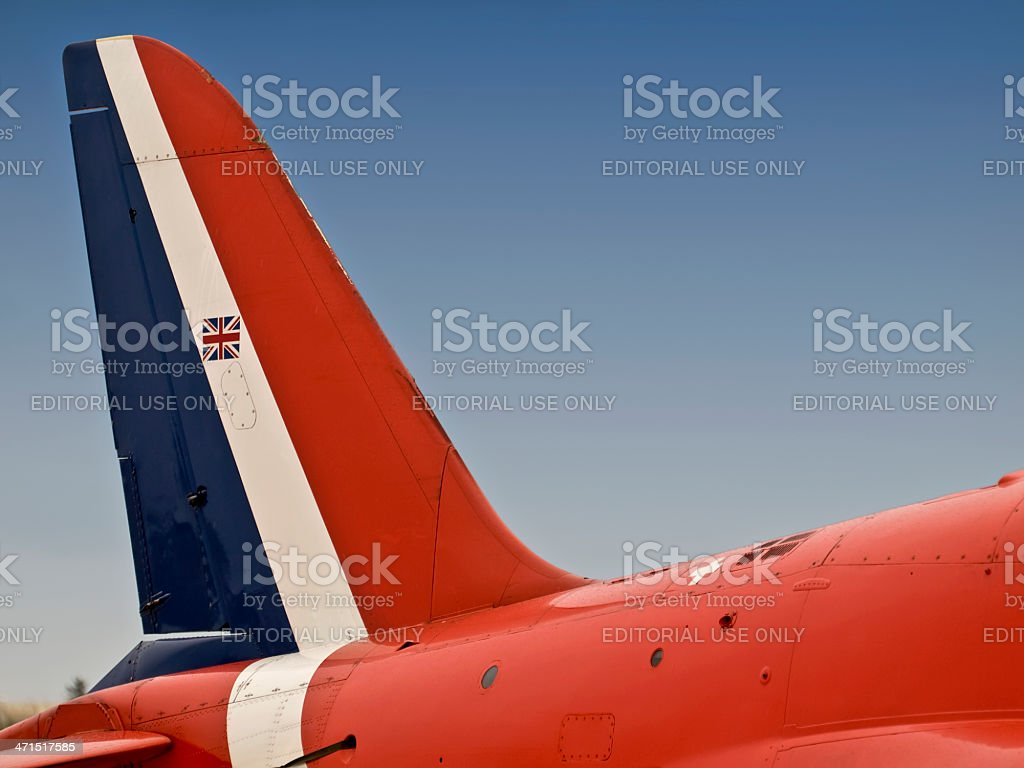 Red Arrows Tailfin royalty-free stock photo