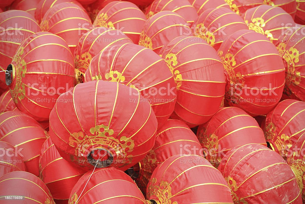Red Asian Lanterns royalty-free stock photo