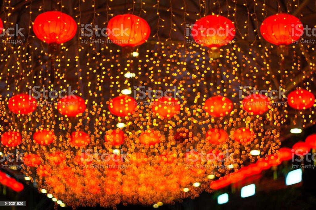 Red Asian Lanterns stock photo