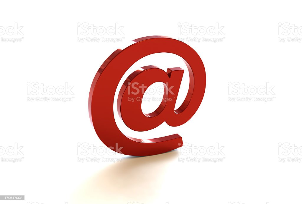 Red AT Sign royalty-free stock photo
