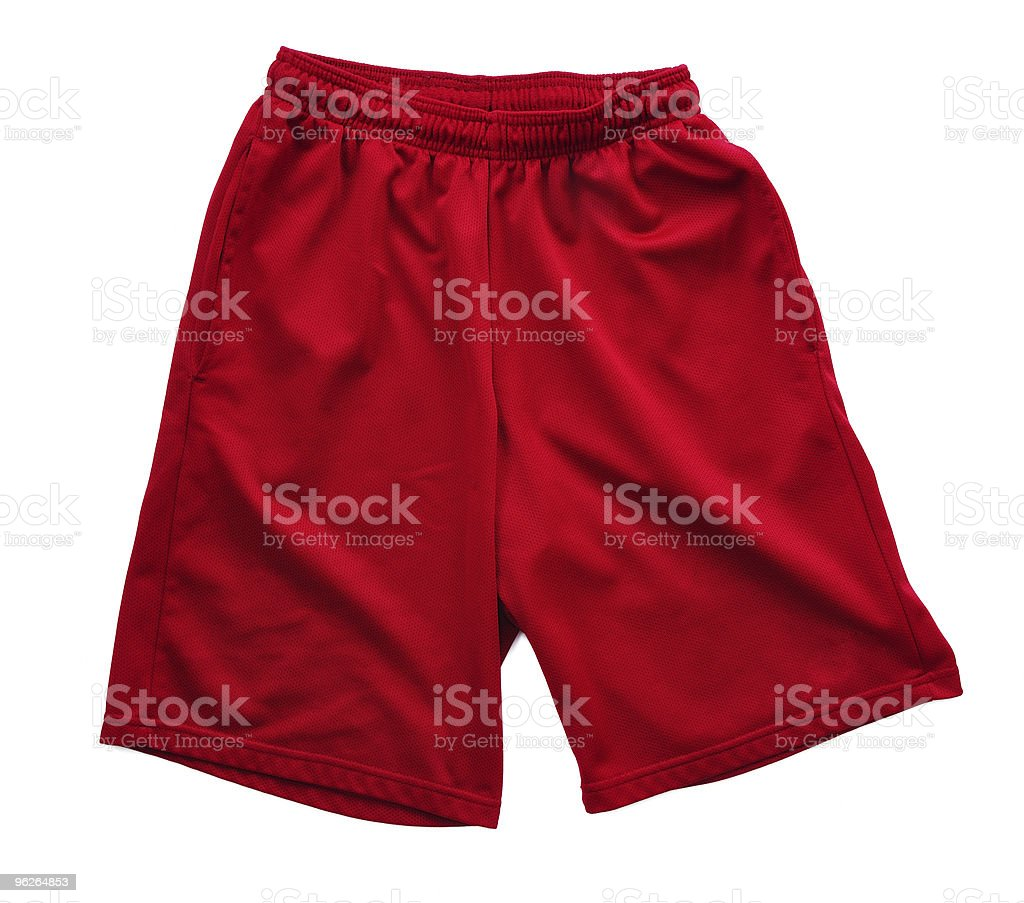 Red Athletic Shorts royalty-free stock photo