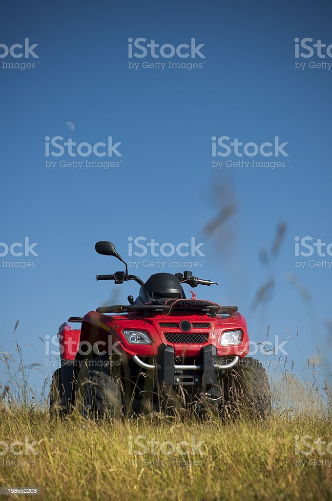 Red ATV for rent royalty-free stock photo