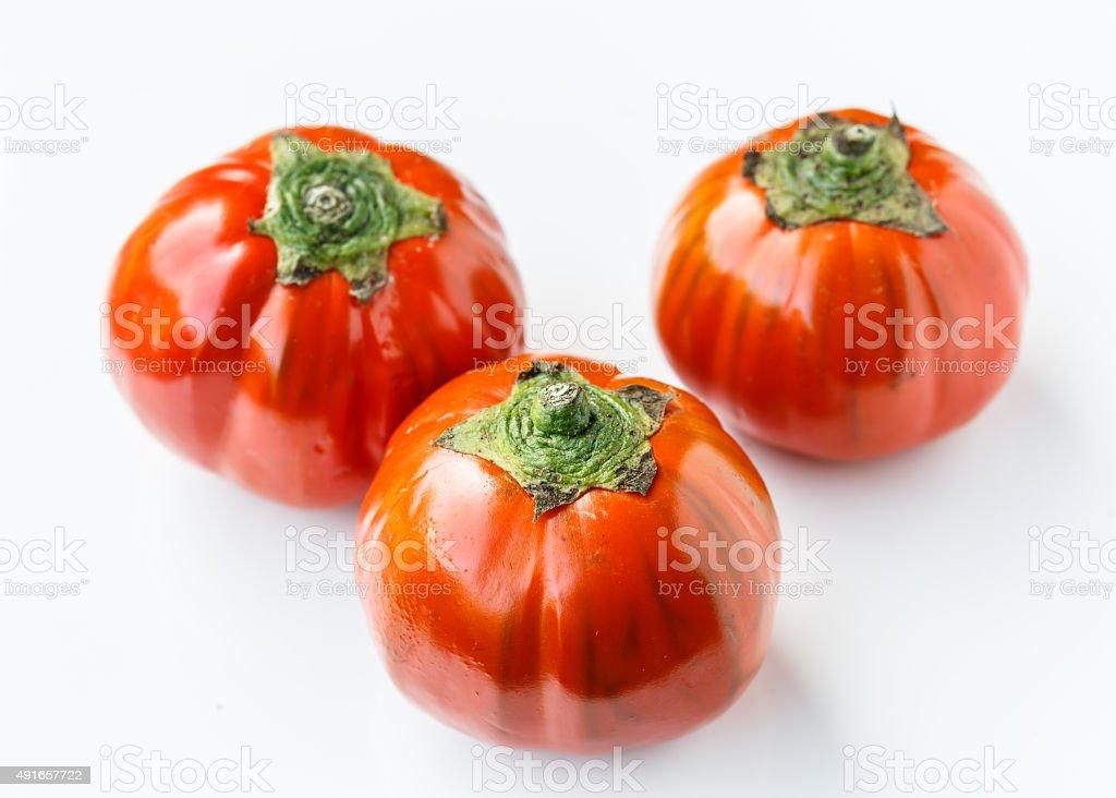 Red aubergine stock photo