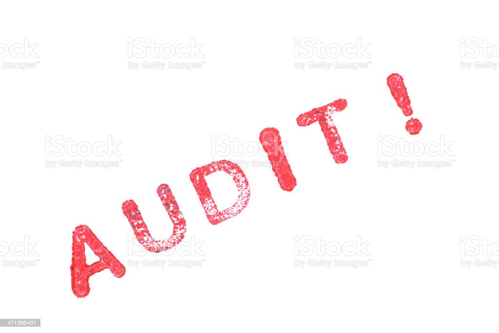 red audit! stamp on white background royalty-free stock photo