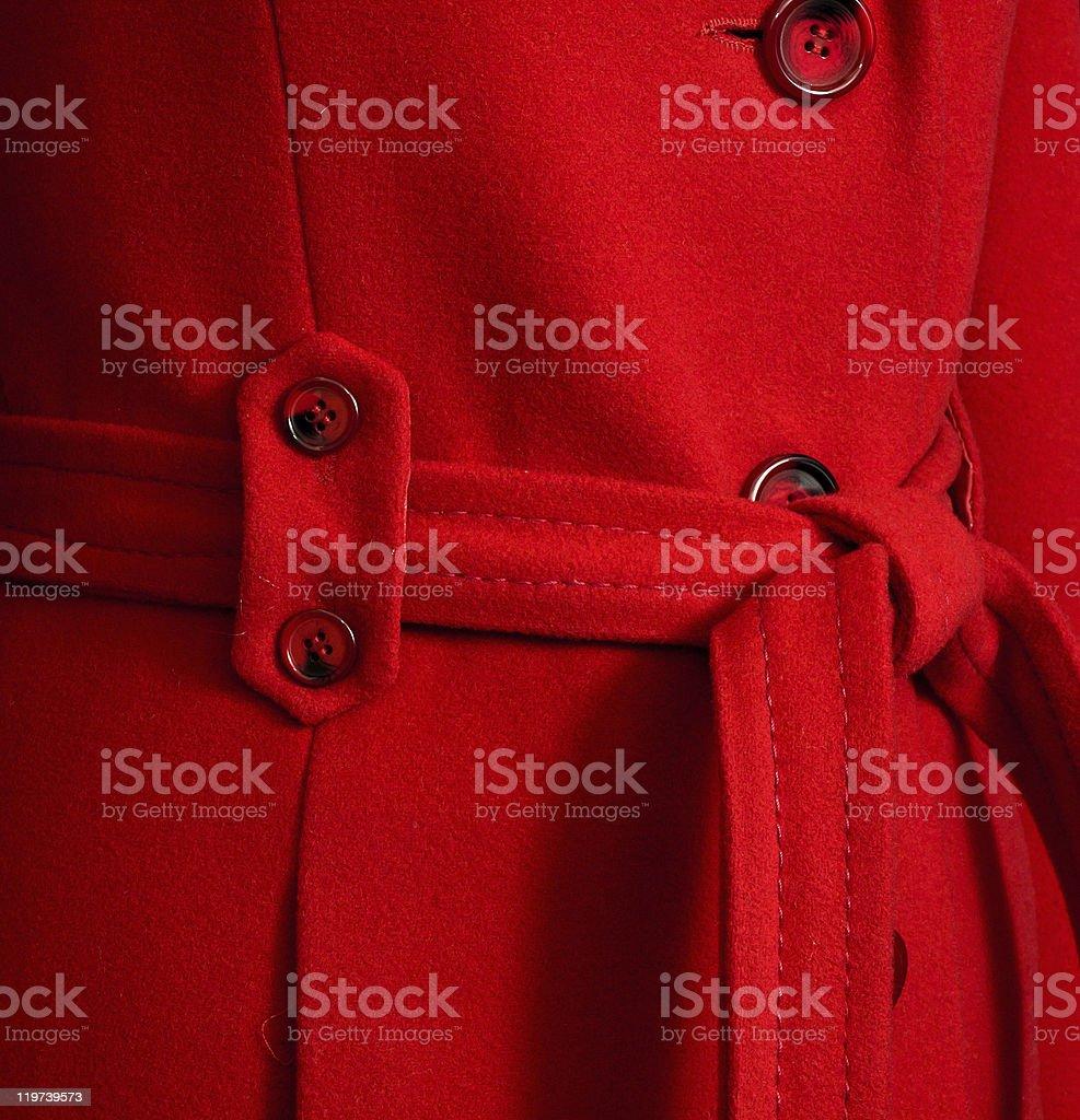 Red autumn female wool coat stock photo