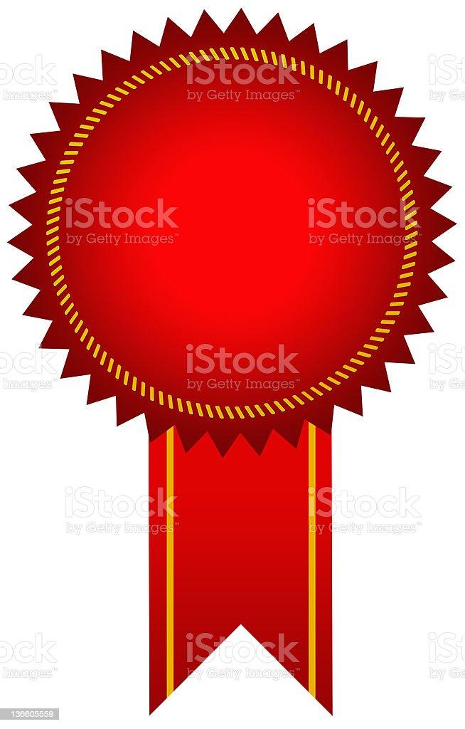 Red award seal royalty-free stock photo