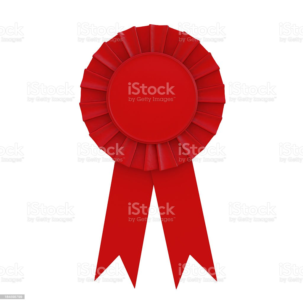 Red awareness ribbon isolated on a white background royalty-free stock photo