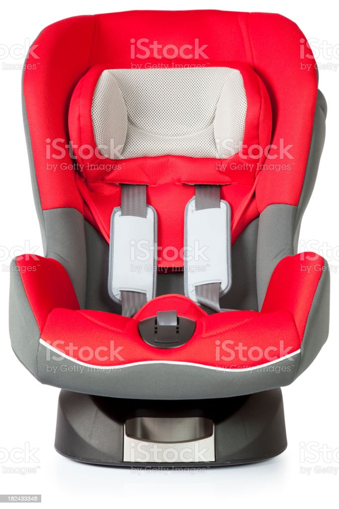 Red Baby Car Seat stock photo