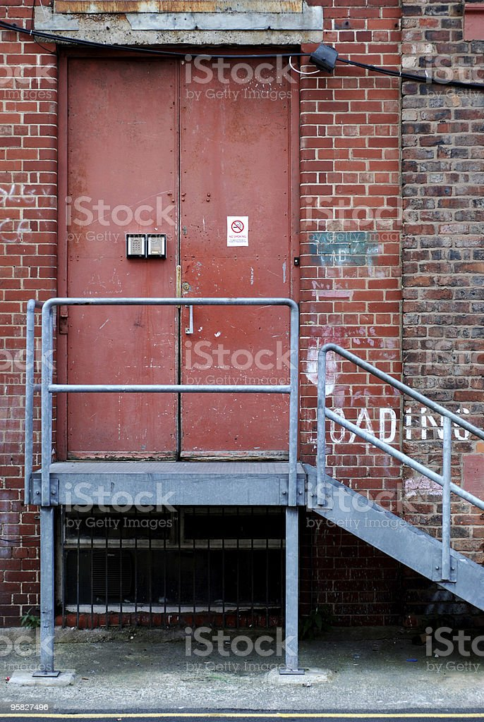 Red back door royalty-free stock photo