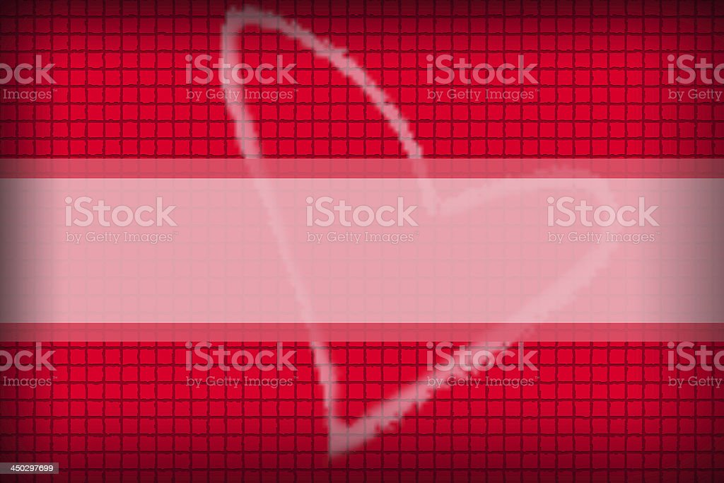 Red background in a box style concatenating and Heart Picture. stock photo
