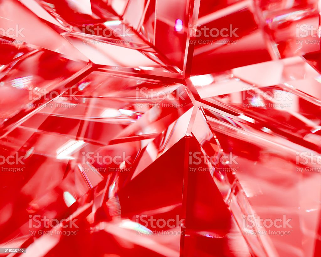 red background of crystal refractions stock photo