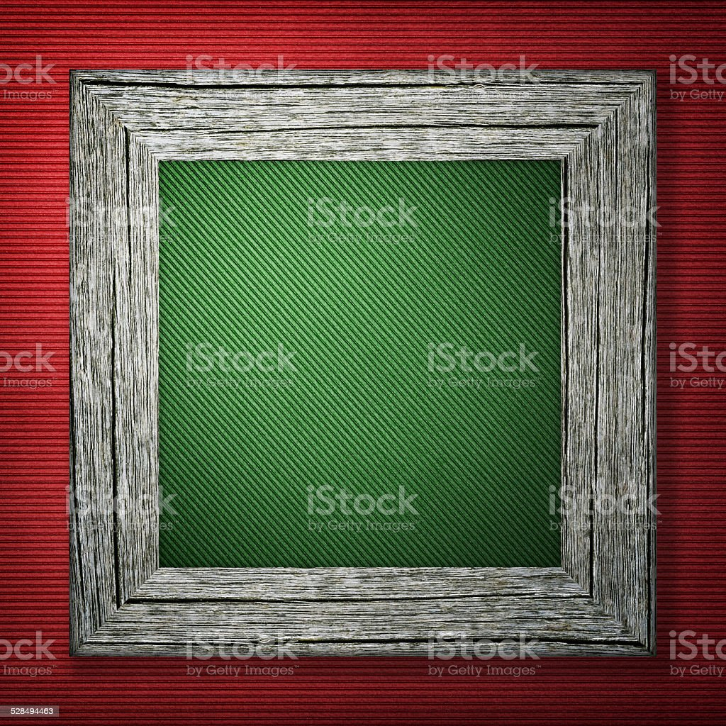 Red background with wooden frame stock photo