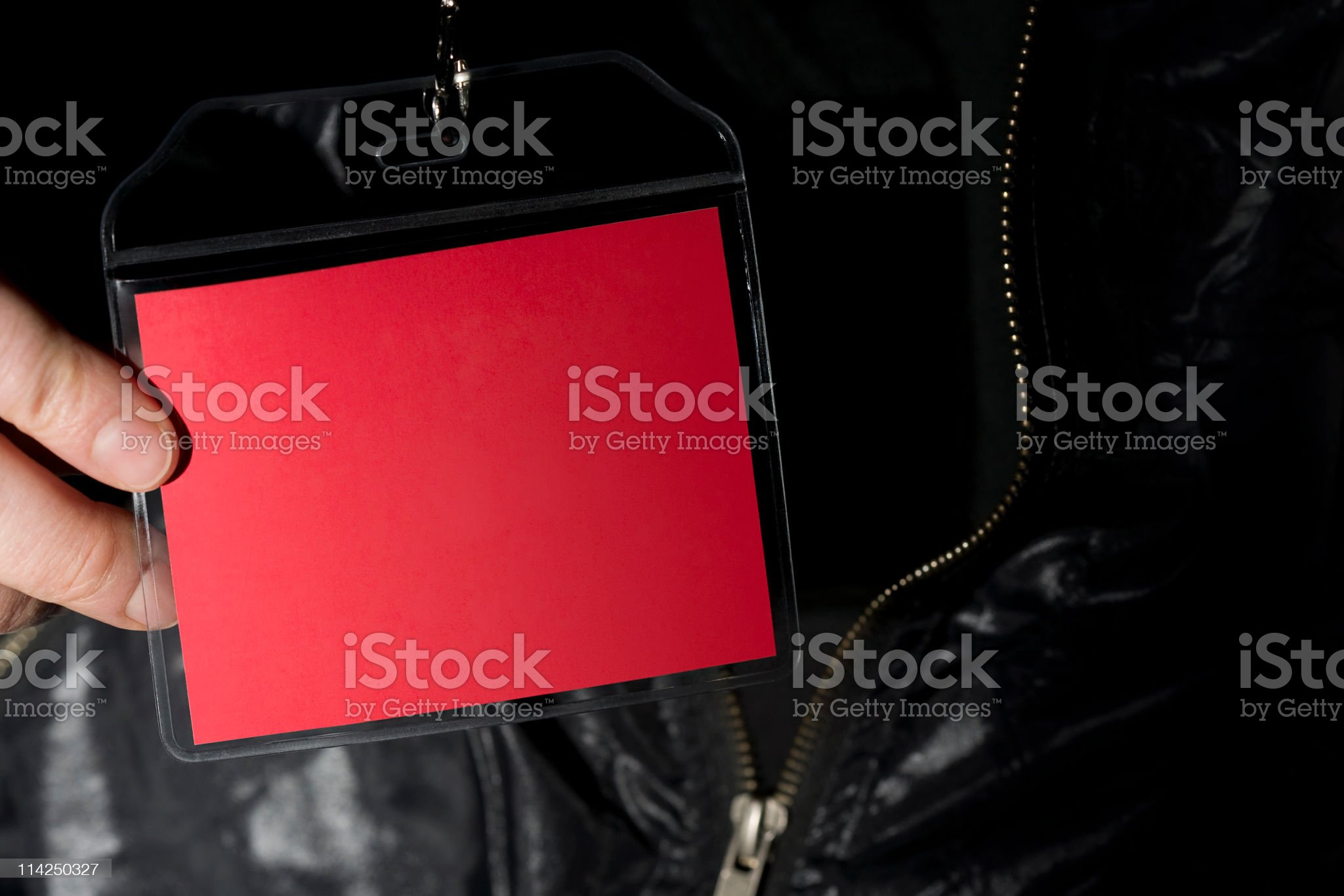 Red backstage pass on lanyard royalty-free stock photo