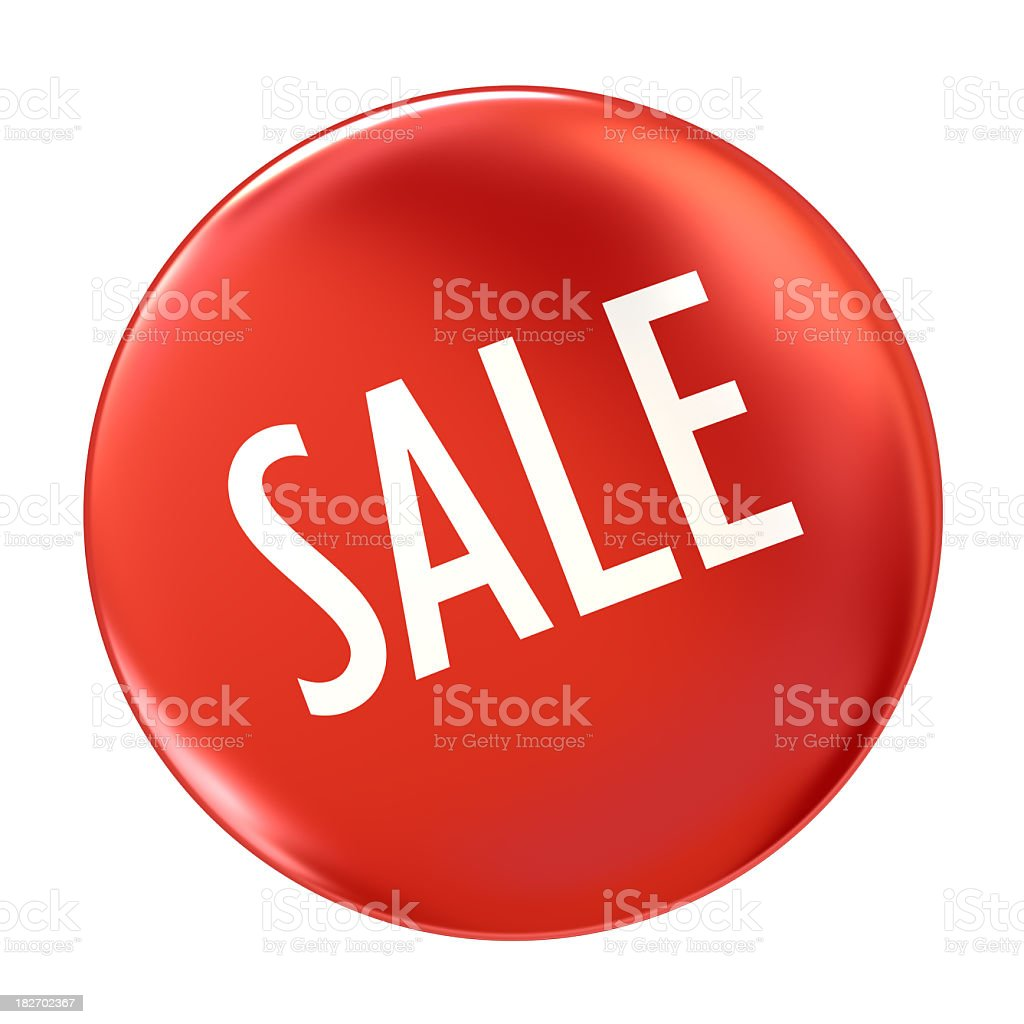 Red Badge royalty-free stock photo