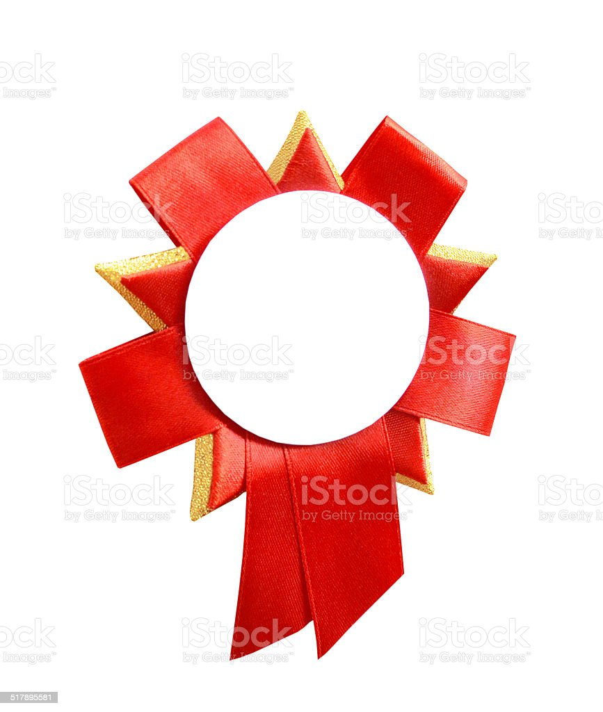 red badge stock photo