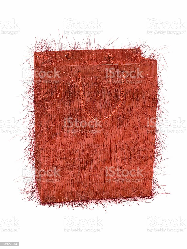 Red bag for gifts royalty-free stock photo