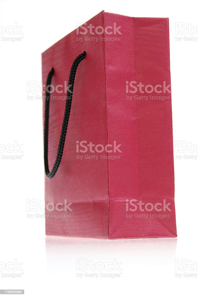 red bag isolated on white royalty-free stock photo