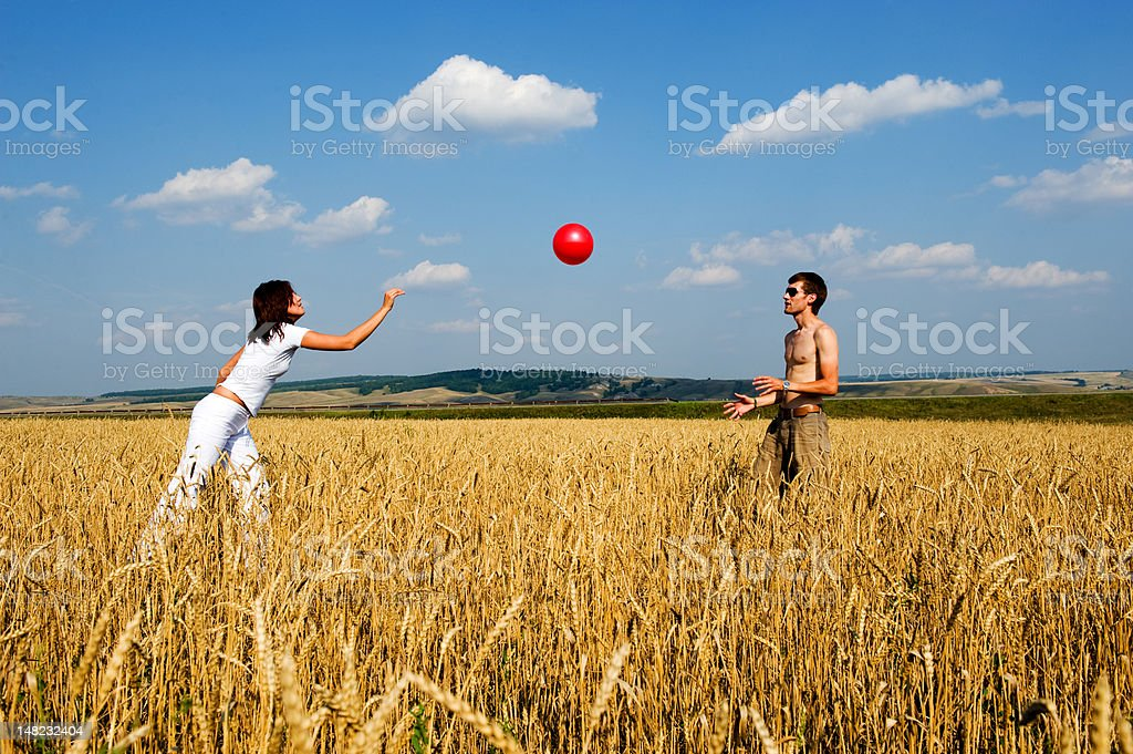 Red ball in game. royalty-free stock photo