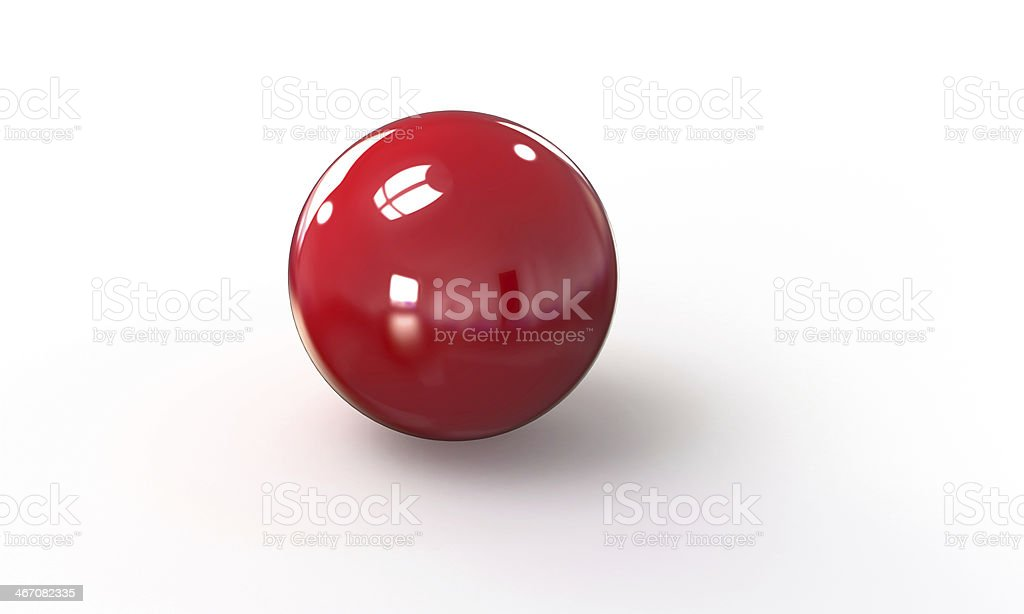 red ball shpere 3d model isolated on white royalty-free stock photo