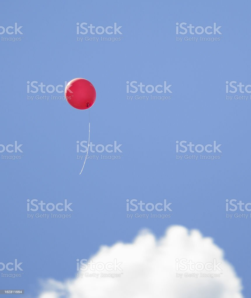 Red Ballon in the sky stock photo