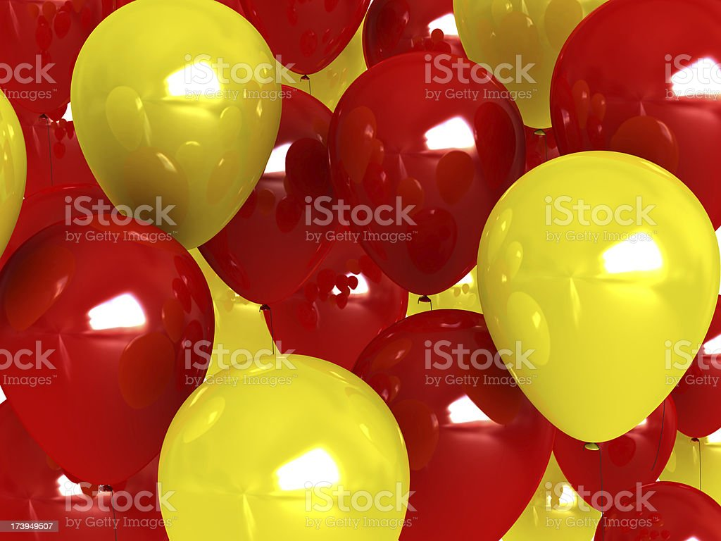 Red balloon background stock photo