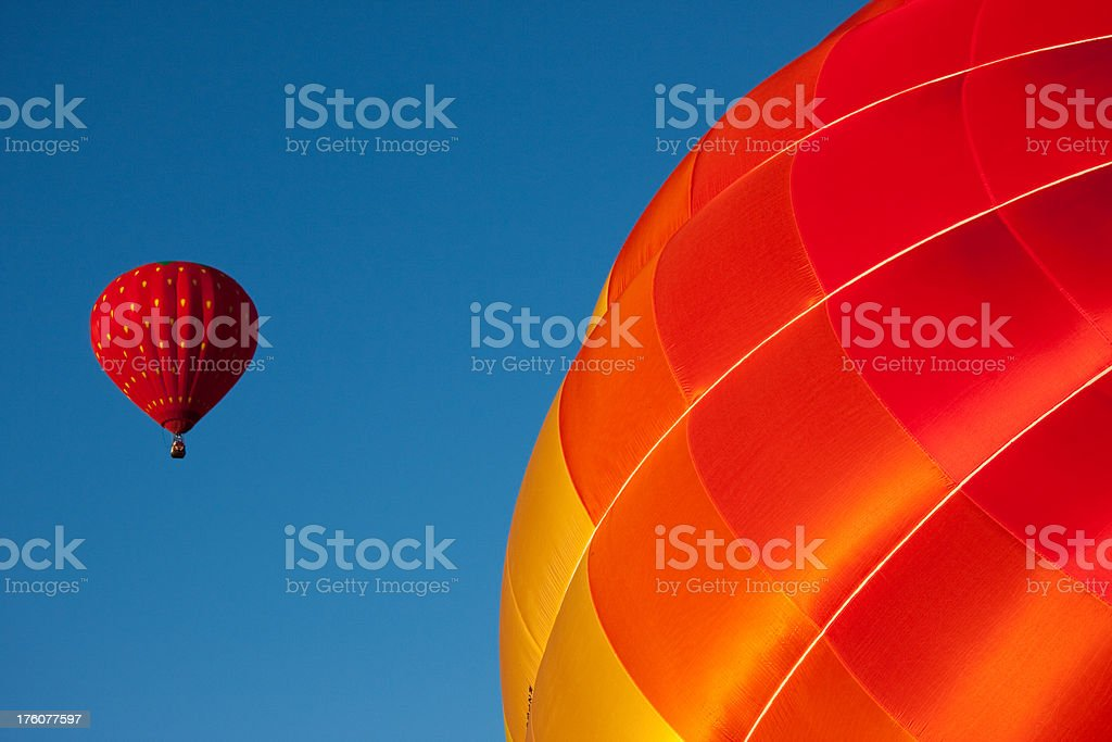 Red Balloons - Blue Sky stock photo