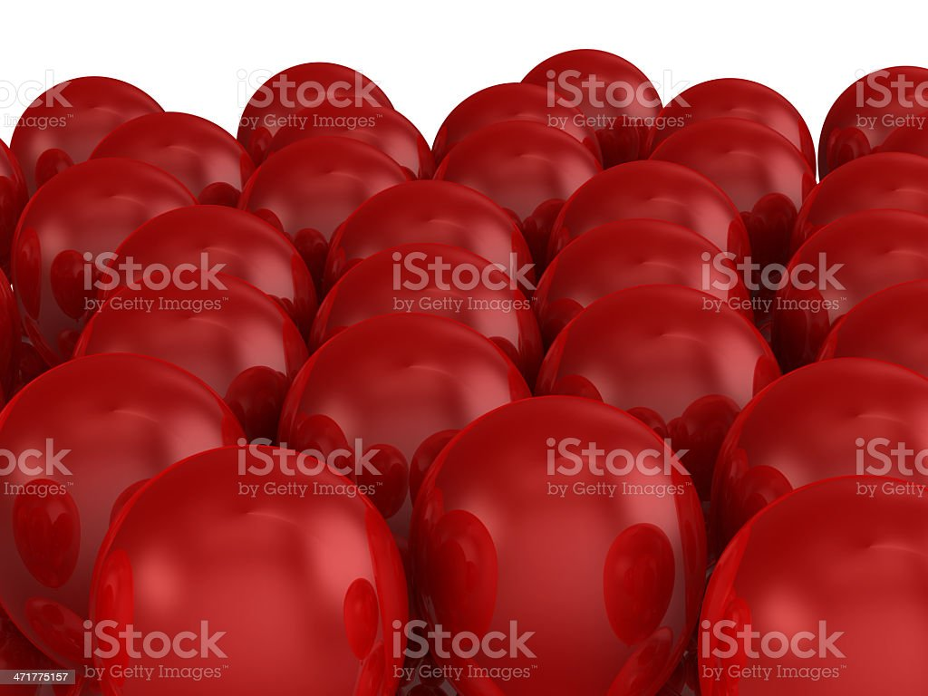 Red Balloons Crowd royalty-free stock photo