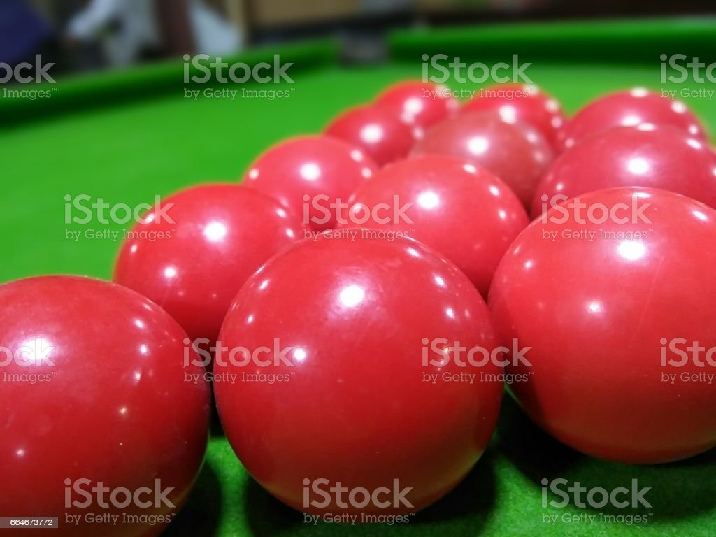 Red balls stock photo