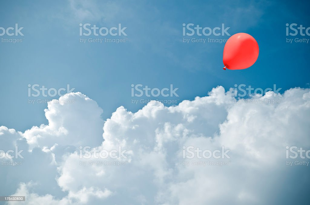 red baloon stock photo
