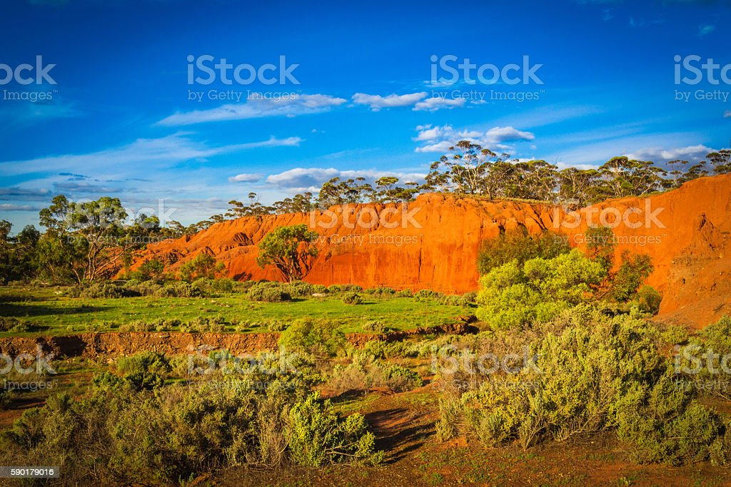 Red Banks Scenic Australian Outback rural Landscape stock photo