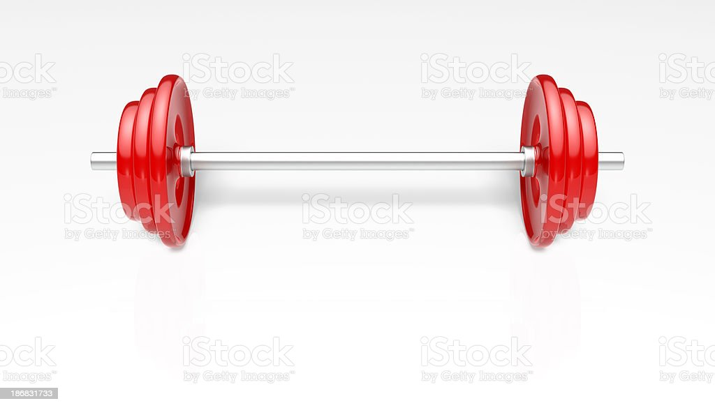 Red Barbells More Weight stock photo