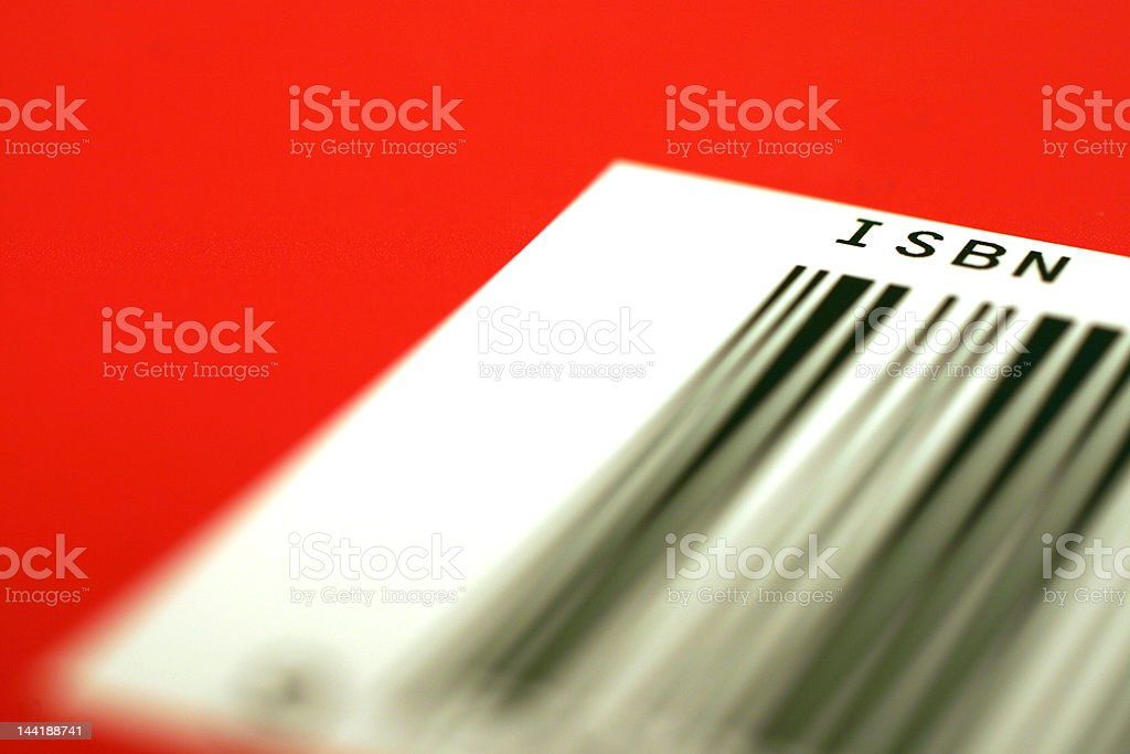 red barcode (ISBN) stock photo