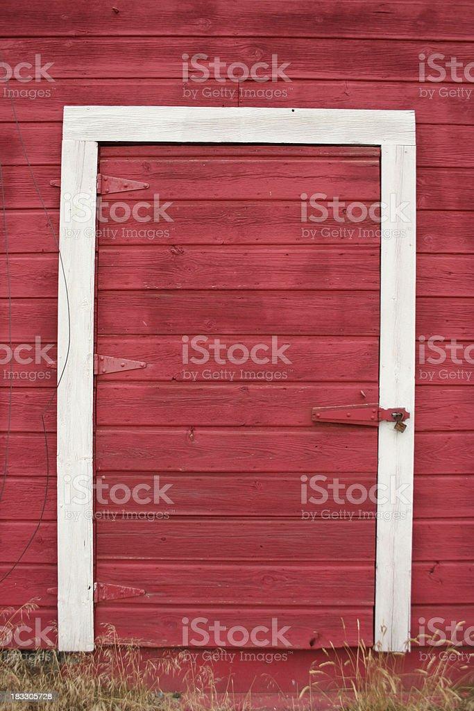 Red Barn Door royalty-free stock photo